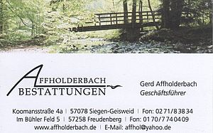 Affholderbach Bestattungen, Inh. Gerd Affholderbach e. K.