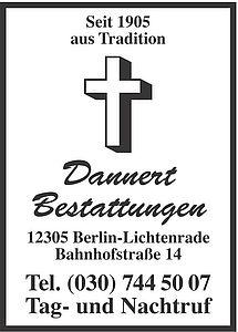 Bestattungsinstitut Kurt Dannert Inh. Stephanie Schütz-Peter e. K.
