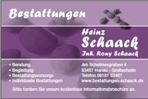 Bestattungen Heinz Schaack Inh. Rony Schaack